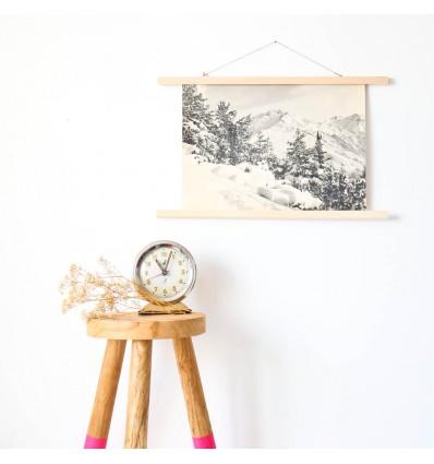 Porte affiche bois naturel 50 cm