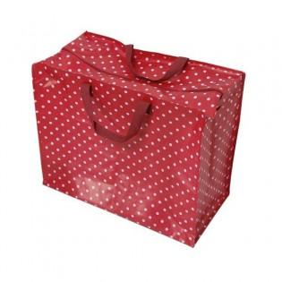 Grand sac de rangement rouge à pois