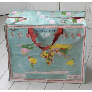 Grand sac de rangement carte du monde