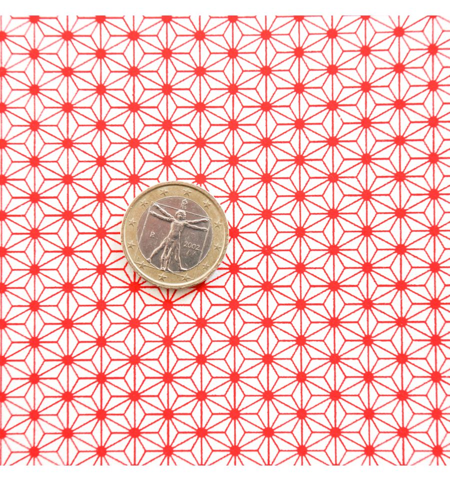 papier japonais motif asanoha rouge. Black Bedroom Furniture Sets. Home Design Ideas
