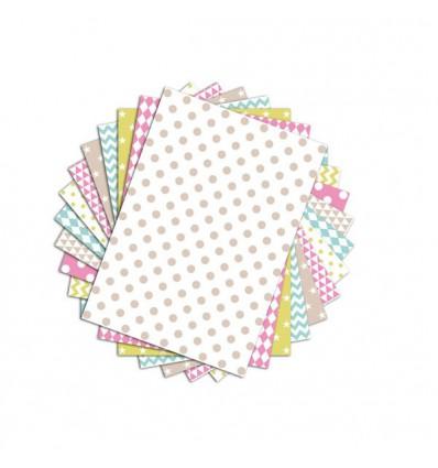 48 feuilles A4 aux motifs géométriques