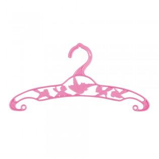 6 cintres rétro rose