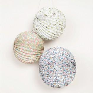 3 boules lampions LIBERTY Meri Meri