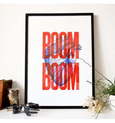 Affiche Boom Boom - Sérigraphie