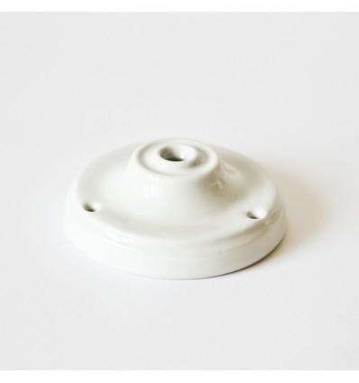 Plafonnier porcelaine Rosace rétro blanche Zangra