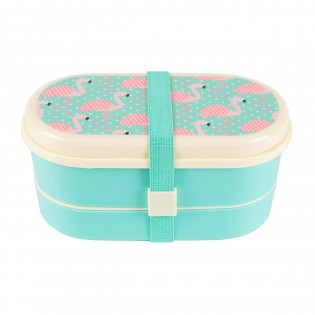 Bento Lunchbox flamants roses turquoise