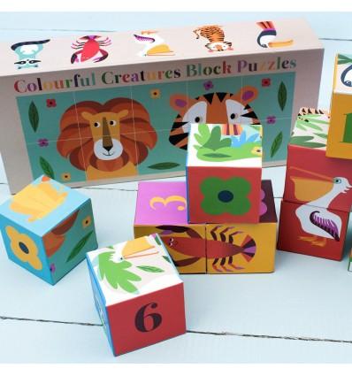 Cubes puzzle animaux