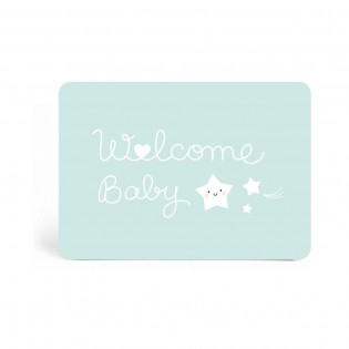"Carte "" Welcome baby "" bleu de Zü (ZU)"