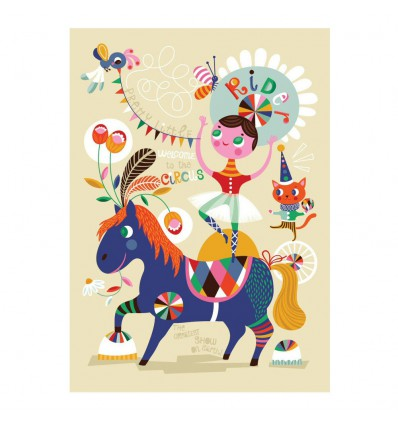 Affiche jolie écuyère ( pretty little rider) Helen Dardik