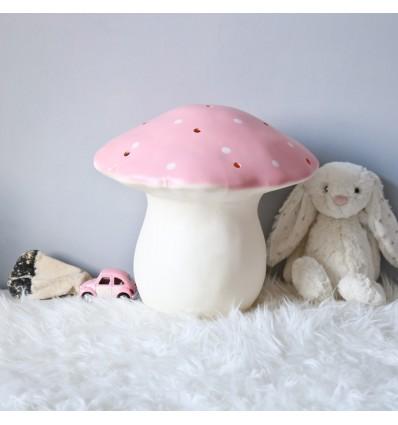 Lampe Veilleuse champignon rose pastel