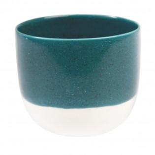 Tasse ou photophore bleu pétrole