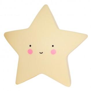 Veilleuse étoile jaune clair