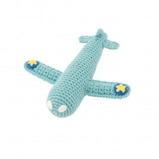 Avion hochet en crochet bleu ciel - Global Affairs
