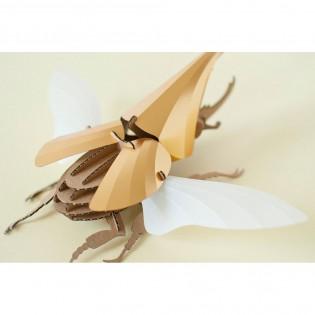 Kit de pliage papier hercules beetle doré - Trophée assembli