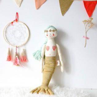 Poupée Sirène tricotée coton - Meri Meri
