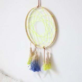 Attrape-rêve bleu et jaune fluo - Meri Meri