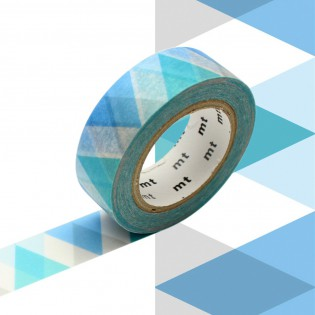 Masking tape arlequin bleu
