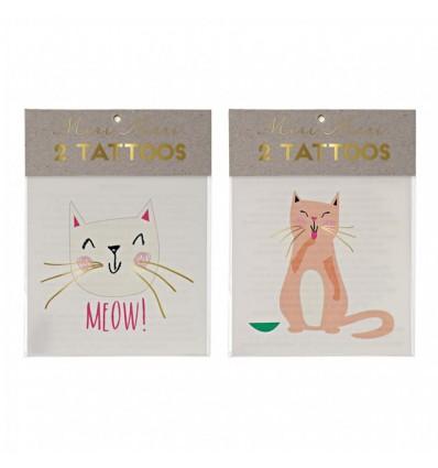 Tatouages éphémères chat - Meri Meri