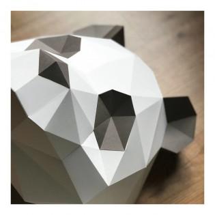 Kit de pliage papier trophée Panda brun et blanc - Trophée assembli