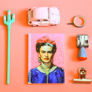 Carnet A6 Frida Kahlo rose