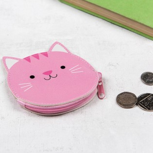Porte monnaie chat rose