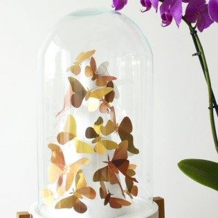 Kit de pliage papier de 23 papillons Or - Assembli