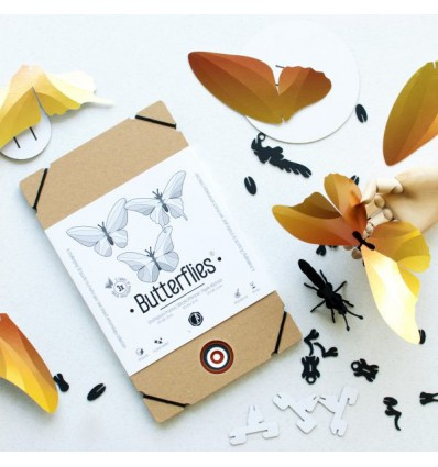 Kit de 3 papillons Or - Assembli