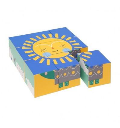 Cubes puzzle Lama et ses amis Suzy Ultman - Petit Monkey