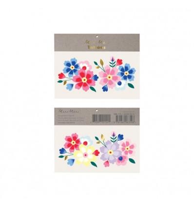 Tatouages éphémères fleurs KASHMIRI - Meri Meri