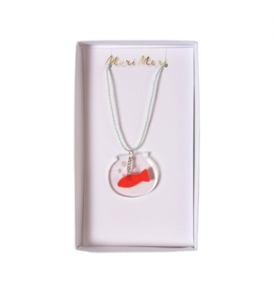 Collier bocal poisson rouge Meri Meri