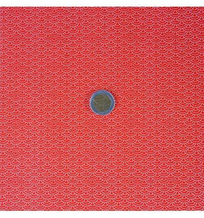 Papier japonais washi écailles rouges