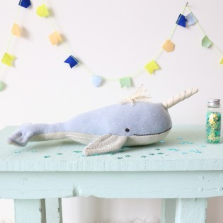 Narval baleine tricoté coton - Meri Meri