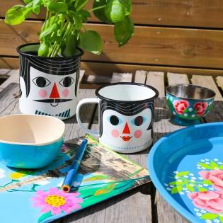 Mug tasse émaillée Couple Ingela Arrhenius - Omm design