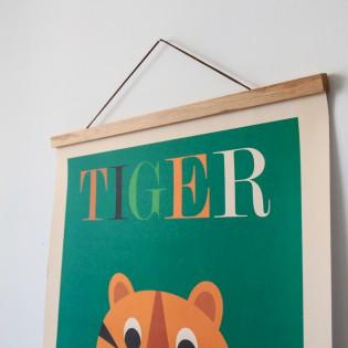 Porte affiche aimanté bois naturel 50 cm