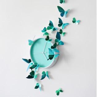Kit de pliage papier de 24 papillons verts - Assembli