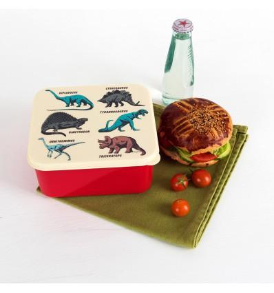 Boîte à goûter dinosaures rétro