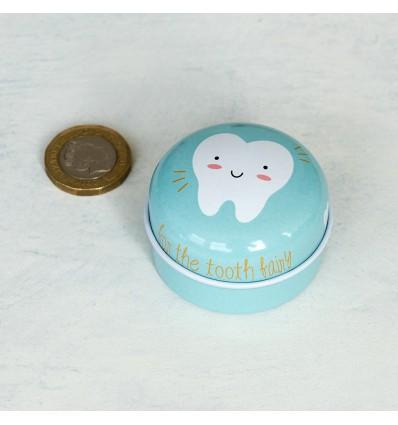 Boîte à dents de lait en métal mint