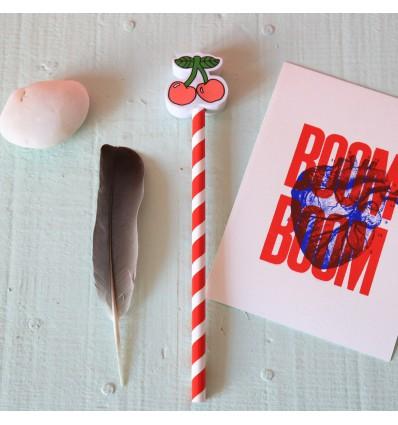 Crayon à papier gomme cerises - Sass & Belle