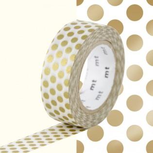 Masking tape pois dorés