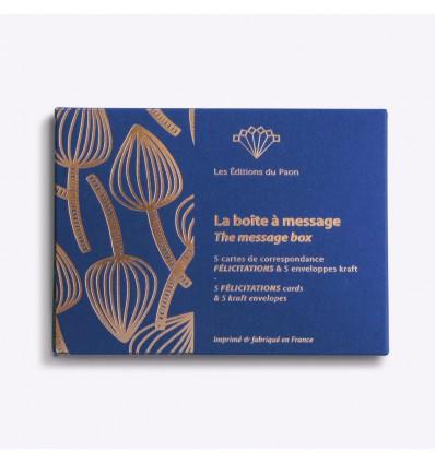 Boîte à message Félicitations - Editions du Paon
