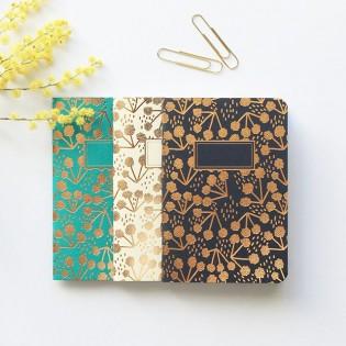 Set de 3 petits carnets Little Coton - Editions du Paon