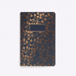 Carnet cousu Little Coton Navy - Editions du Paon
