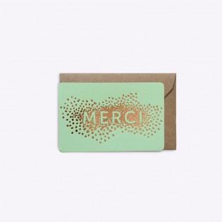 Mini carte Merci mint - Editions du Paon