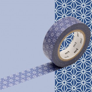 Masking tape asanoha bleu marine
