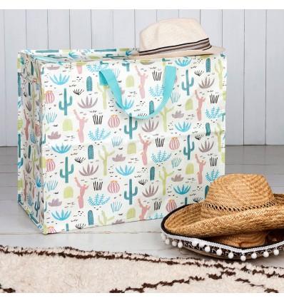 Grand sac de rangement Cactus