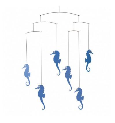 Mobile hippocampes bleus - Flensted
