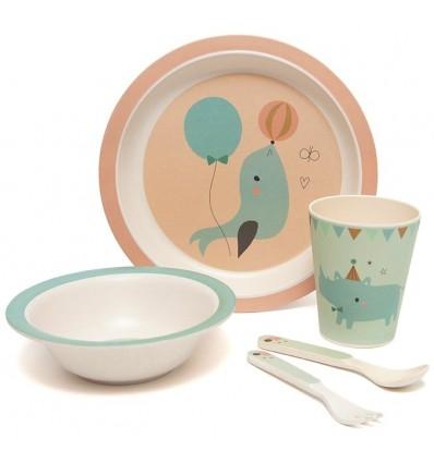 Set vaisselle bambou Phoque - Petit Monkey