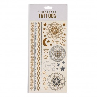 Tatouages or et argent mystiques