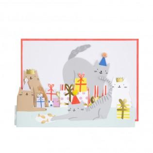 Carte Anniversaire Fête des Chats - Meri Meri