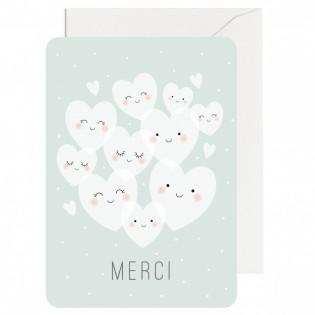 Carte Merci Coeurs Zü (ZU)